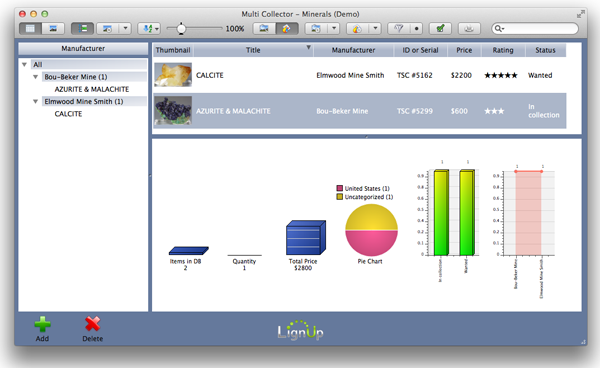 LignUp Multi Collector PRO MacOS Screen shot