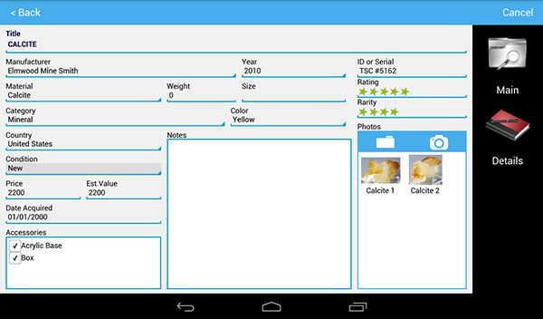 Android organizer application