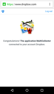 confirmation from dropbox