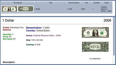 paper money and banknotes template for multicollector