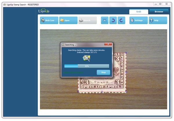 Stamp identification software